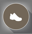 boot sign white icon on brown circle with vector image