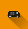 Car icon 11 long shadow vector image vector image