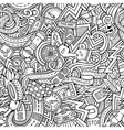 Cartoon hand-drawn sketchy doodles on the subject vector image vector image