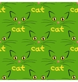 Cat face background vector image