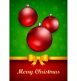 Christmas baubles and bow vector image vector image