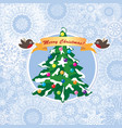 christmas snow floral background happy winter vector image vector image