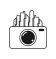 city camera icon design template vector image
