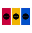colorful flat banner set vector image vector image