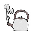 comic cartoon old kettle vector image vector image