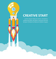 Creative start up vector image vector image