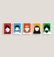 diverse culture people portrait set vector image vector image