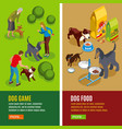 dog vertical isometric banners vector image vector image