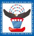 eagle and american hat patriotic symbol vector image vector image