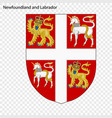 emblem of newfoundland and labrador province of vector image vector image