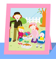 Family photo in spring vector image vector image
