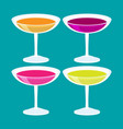 flat isometric cocktail set vector image vector image