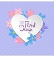Floral frame Heart shape vector image