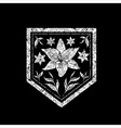 floral logo 09 grunge vector image vector image