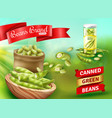 green beans poster vector image vector image