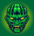 green head angry monster halloween vector image vector image
