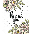 Greeting card flowers - Thank you hand painting vector image vector image