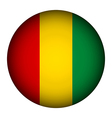 Guinea flag button vector image vector image