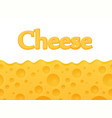 horizontal seamless cheese background with copy vector image vector image