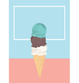 Icecream badge frozen sweets and cold summer vector image