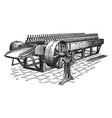 jute softening machine vintage