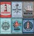 marine nautical adventure travel sea and ocean vector image