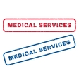Medical Services Rubber Stamps vector image vector image