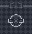 modern insignia vintage label vector image vector image