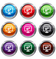 monitor settings set 9 collection vector image vector image