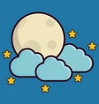 moon and clouds icon vector image vector image