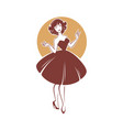 new look style girl retro lady for your logo vector image
