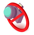 no camera icon isometric 3d style vector image vector image