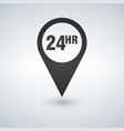 open around clock or 24 hours a day and 7 vector image vector image