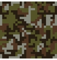 Pixel camo seamless pattern Brown forest vector image vector image