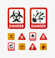prohibition signs set oil industry production vector image vector image