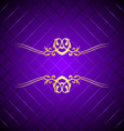 purple gold background square vector image vector image