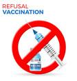 refusal vaccination concept vector image vector image