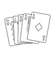 royal flush playing cards poker casino vector image vector image