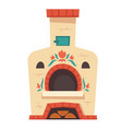 russian oven traditional stove for rural kitchen vector image