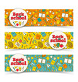 school learning horizontal banners vector image vector image