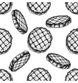 seamless pattern with black and white grilled vector image