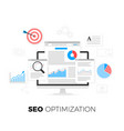 seo optimization concept search engine vector image