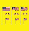 set american flag clip art easy to modify vector image vector image
