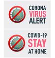 set corona virus related banners