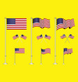 set of american flag clip art easy to modify vector image