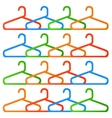 Set of Hanger Isolated on White Background vector image vector image