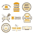 Set of logo labels stickers and logotype vector image vector image