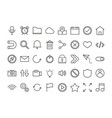 set user interface icons mobile app button vector image