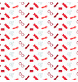 shopping icons seamless pattern womens accessories vector image vector image