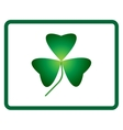 Sign three leaf clover 705 vector image vector image
